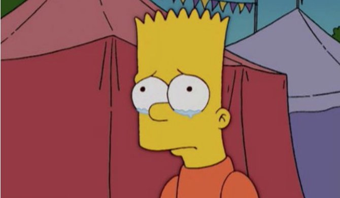 Bart Simpson sad