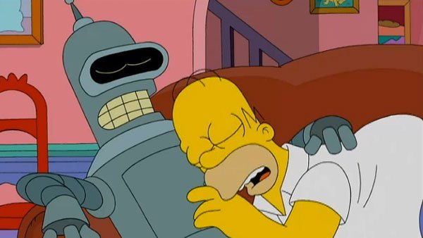 Homer and Bender