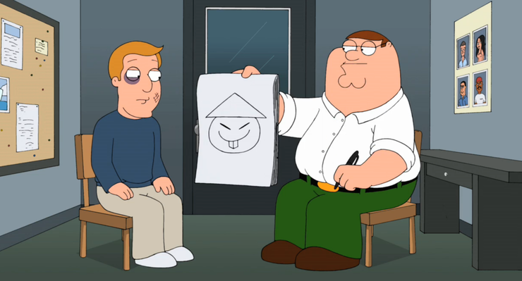 peter griffin drawing